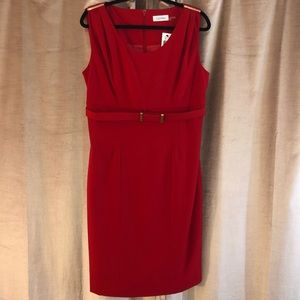 NWT Calvin Klein belted sheath dress